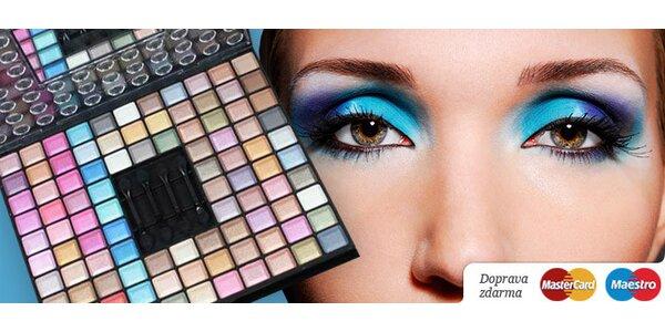 Paleta profesionálnych očných tieňov s vitamínom C