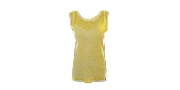 Dámske žlté tielko s kontrastnými lemami Fuga