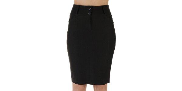 Dámska čierna púzdrová sukňa Ada Gatti