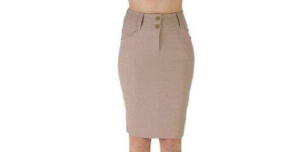 Dámska hnedá púzdrová sukňa Ada Gatti