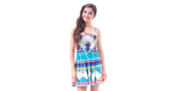 Dámske farebné šaty s aztéckou potlačou Mr. GUGU & Ms. GO