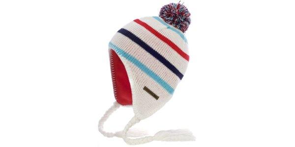 Dámska krémová čiapka so strapcami Trespass
