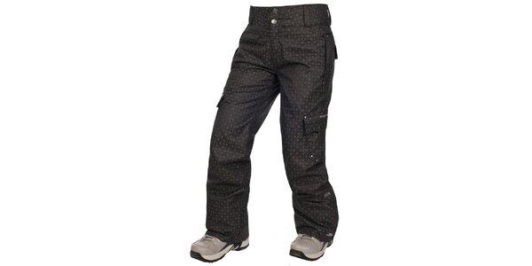 Dámske čierne lyžiarske nohavice s potlačou Trespass