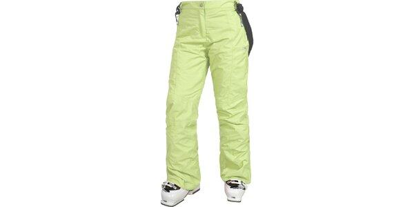 Dámske svetlo zelené lyžiarske nohavice Trespass