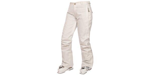 Dámske krémovo biele lyžiarske nohavice Trespass