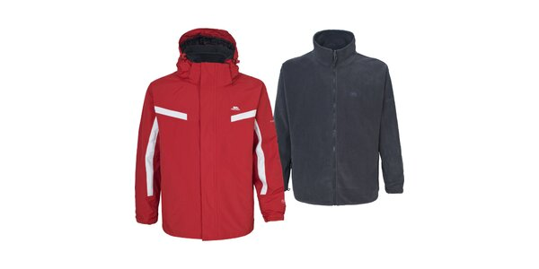 Pánska červená bunda s mikinou 3 v 1 Trespass