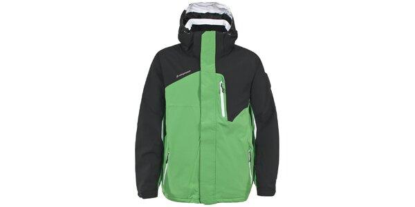 Pánska zelenočierna lyžiarska bunda Trespass