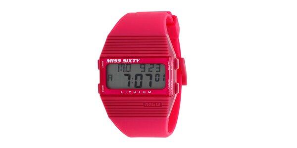 Dámske červené digitálne hodinky Miss Sixty