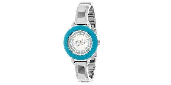 Dámske striebornomodré hodinky Miss Sixty