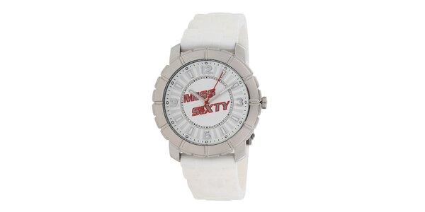 Dámske strieborno-biele analógové hodinky Miss Sixty