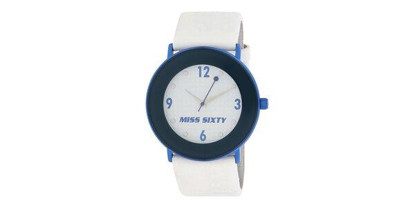 Dámske modrobiele hodinky Miss Sixty