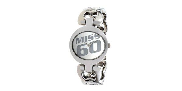Dámske oceľové hodinky v striebornej farbe Miss Sixty
