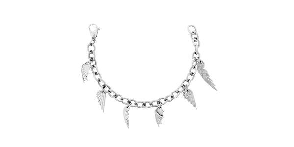 Dámsky náramok z nerezovej ocele s príveskami krídiel Miss Sixty