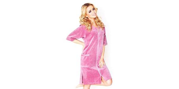 Dámske ružové domáce šaty Wanmar