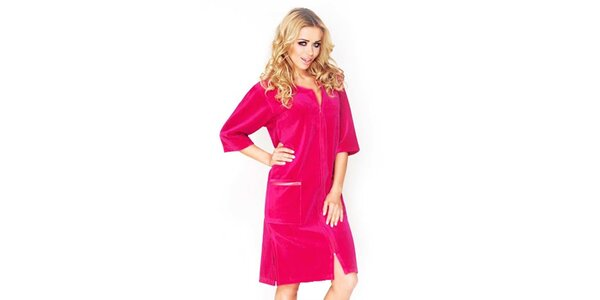 Dámske tmavo ružové šaty Wanmar