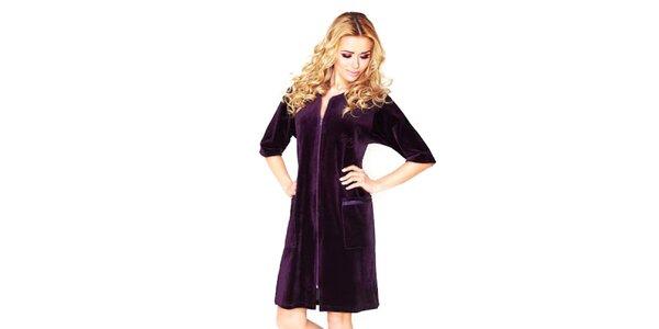 Dámske fialové domáce šaty Wanmar