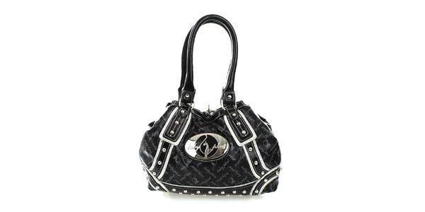 Dámska čierna vzorovaná kabelka Baby Phat