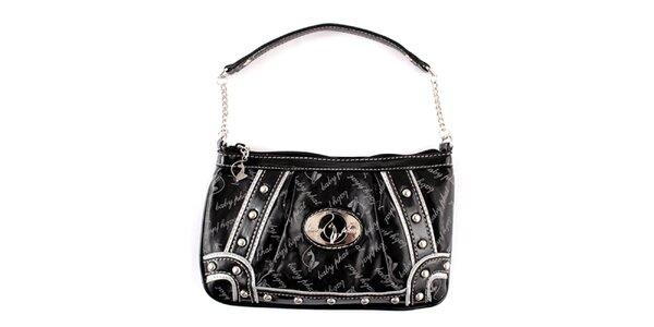 Dámska čierna kabelka Baby Phat s kamienkami