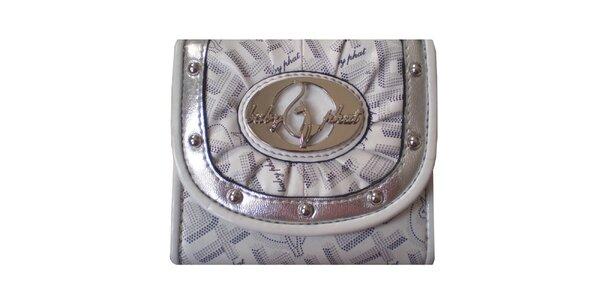 Dámska bielo-strieborná peňaženka Baby Phat