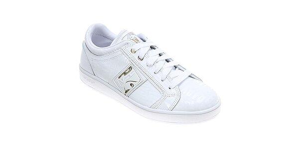 Dámske biele nízke topánky Baby Phat s nápismi