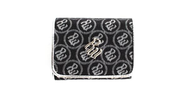 Dámska čierna peňaženka so vzorom RocaWear