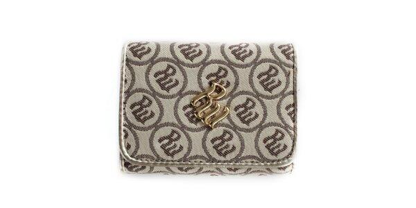 Dámska krémová peňaženka so vzorom RocaWear