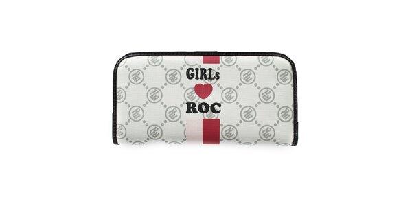 Dievčenská biela vzorovaná peňaženka RocaWear