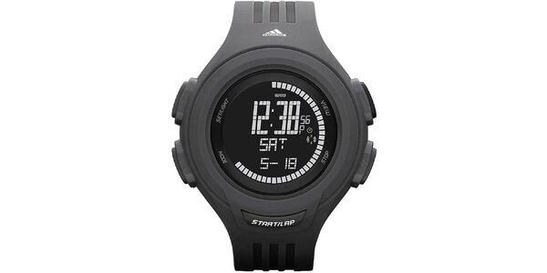 Čierne športové hodinky Adidas