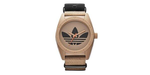 Hnedé hodinky s logom Adidas