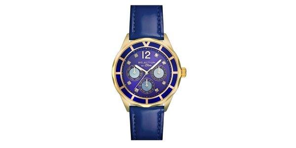 Dámske hodinky s chronografom a modrým remienkom s.Oliver