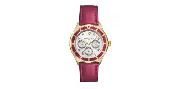 Dámske hodinky s chronografom a červeným remienkom s.Oliver