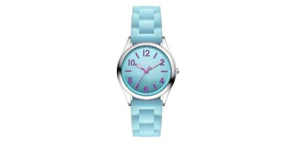 Dámske tyrkysové hodinky s fialovými indexmi s.Oliver
