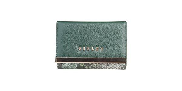 Dámska zelená peňaženka Sisley