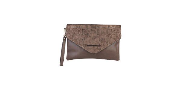 Dámska bronzová listová kabelka Sisley