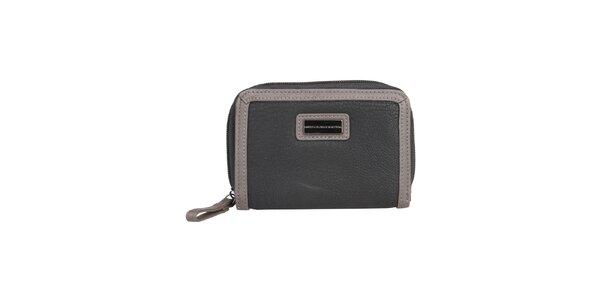 Dámska čierna peňaženka so svetlejším lemom Benetton