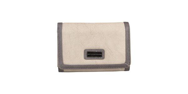 Dámska krémová peňaženka s tmavým lemom Benetton
