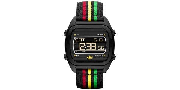 Digitálne hodinky s farebným remienkom Adidas