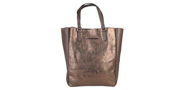 Dámska bronzová kabelka Sisley