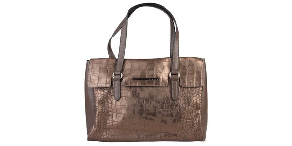 Dámska podlhovastá bronzová kabelka Sisley