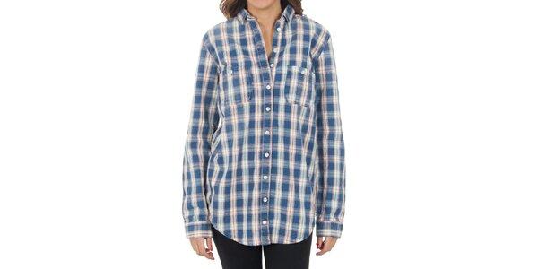 Dámska modrá košeľa s kockami Tommy Hilfiger