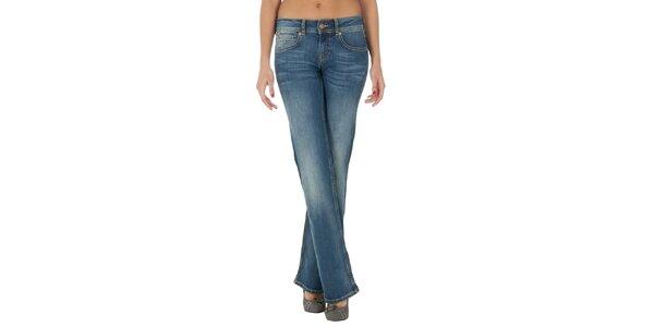 eb4bb26820bf Dámske rovné modré džínsy s šisovaním Tommy Hilfiger