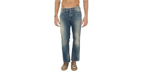 Pánske svetlo modré džínsy s šisovaním Tommy Hilfiger