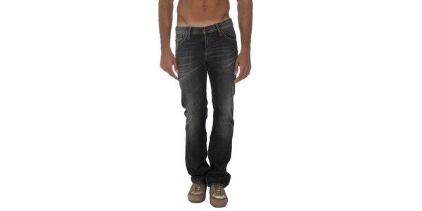 Pánske šedočierne džínsy s šisovaním Tommy Hilfiger