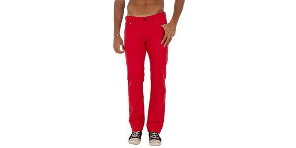 Pánske červené rovné džínsy Tommy Hilfiger