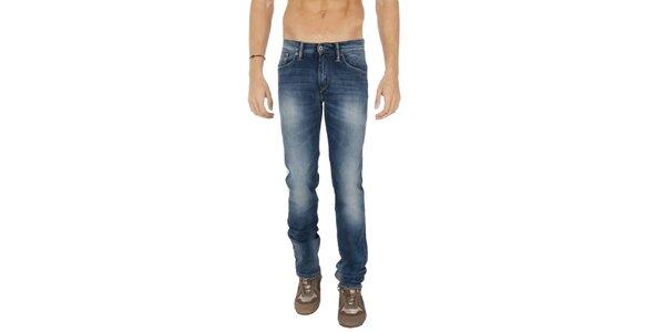 Pánske modré džínsy s šisovaním Tommy Hilfiger