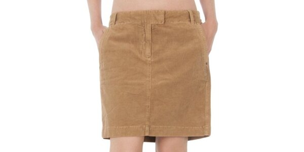 Dámska svetlo hnedá sukňa Tommy Hilfiger
