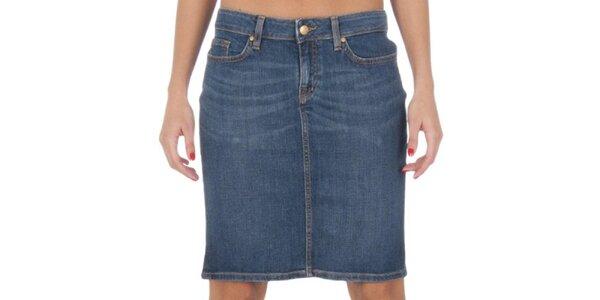 Dámska krátka modrá džínsová sukňa Tommy Hilfiger