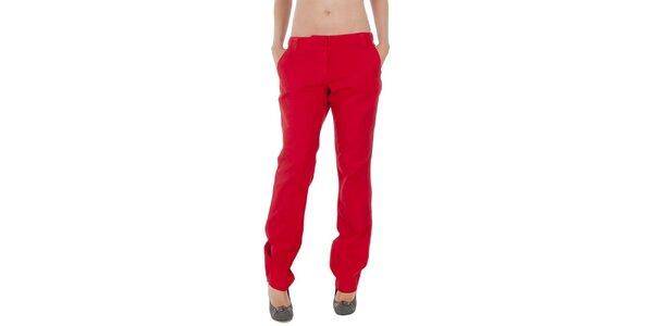 Dámske červené nohavice Tommy Hilfiger