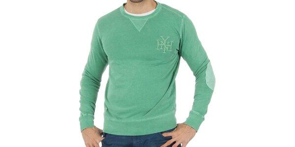Pánska mentolovo zelená mikina Tommy Hilfiger