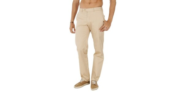Pánske béžové nohavice Tommy Hilfiger